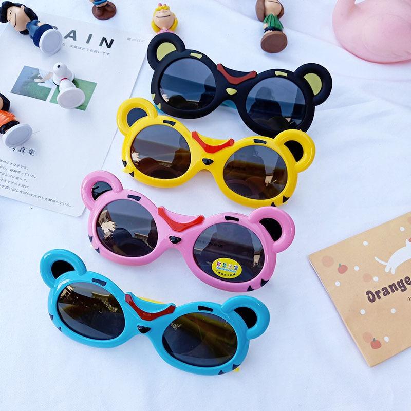 cartoon silicone flexible frame sunglasses NHBA311586