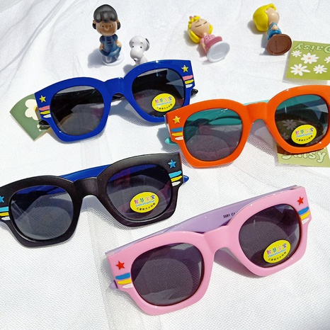Cartoon Mode Silikon Sonnenbrille NHBA311598's discount tags