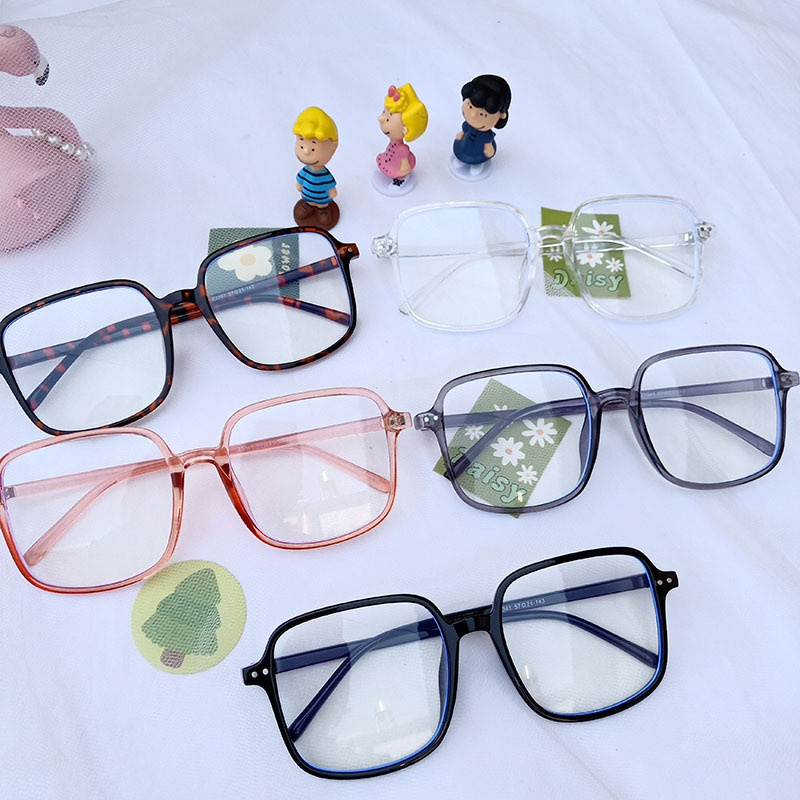 simple square frame anti-blue glasses  NHBA311601