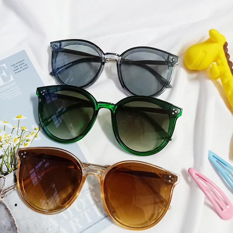 new simple round frame three-point rice nail sunglasses NHBA311602
