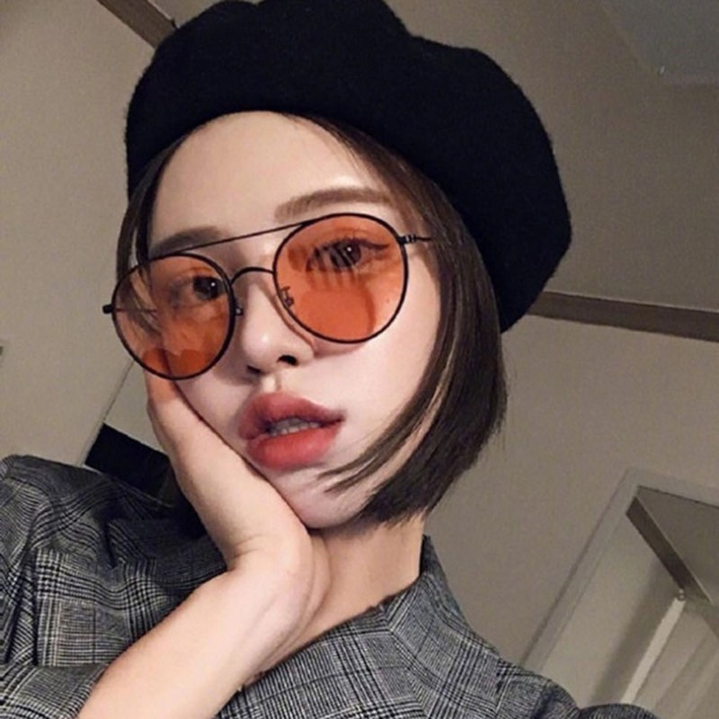 new korean large frame retro transparent  sunglasses NHBA311613