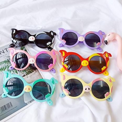 Nouvelles lunettes de soleil Cartoon Pig NHBA311618's discount tags
