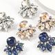 fashion alloy diamond rhinestone geometric earrings NHJE311640