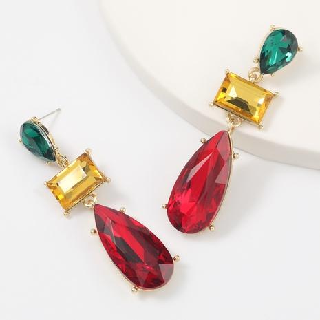 Fashion diamond alloy geometric earrings NHJE311641's discount tags