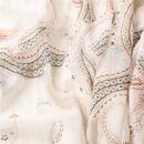 simple new cotton linen white gold powder printing shawl silk scarf  NHGD311736