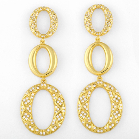 new trendy oval exaggerated earrings NHAS311768's discount tags