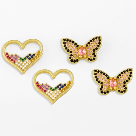 new retro diamond butterfly earrings NHAS311769's discount tags