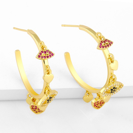 simple new C-shaped exaggerated earrings NHAS311770's discount tags