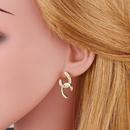 Korean simple double Cshaped earrings NHAS311772
