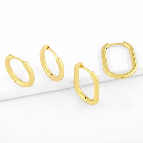 Korean glossy love earrings NHAS311776's discount tags
