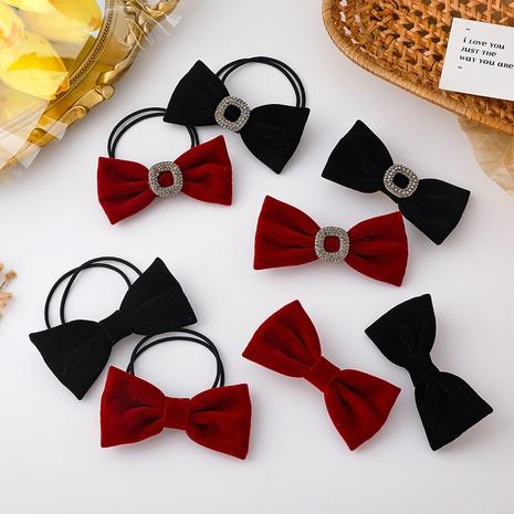 nuevo anillo de pelo de horquilla de lazo rojo simple NHMS311783's discount tags