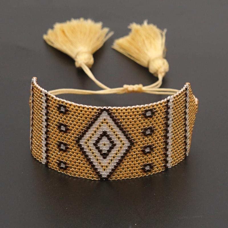 Fashion Bohemian Miyuki Eye Wide Bracelet NHGW311787