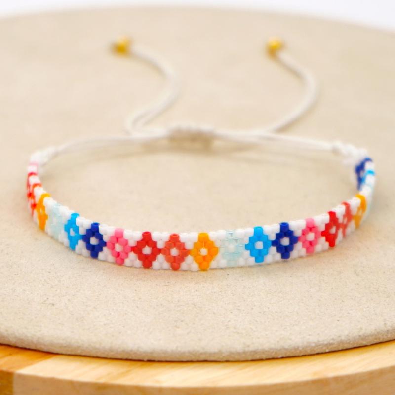simple rainbow geometric handmade bracelet NHGW311790