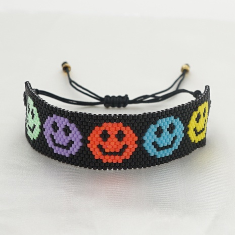 simple Smiley Colorful Beaded Couple Bracelet  NHGW311797's discount tags