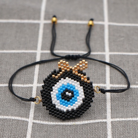 Turkish blue eyes woven ethnic style bracelet NHGW311799's discount tags