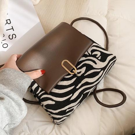 sac à bandoulière à motif zébré NHLH311803's discount tags