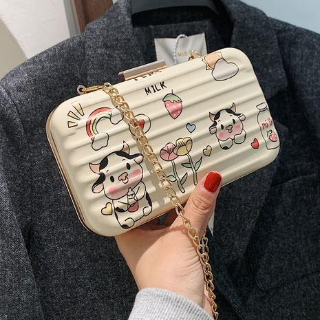 cute printed mini box messenger bag NHLH311806's discount tags