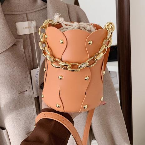 bolso de hombro con remaches de moda NHLH311811's discount tags