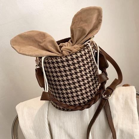 Bolso bombonera retro de lana con celosía NHLH311823's discount tags