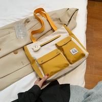 Lindo bolso de hombro de lona de gran capacidad NHEX311895
