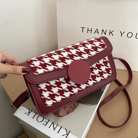 Korean checkered fashion chain bag NHEX311909's discount tags