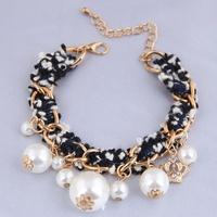 Pulsera trenzada de corona de perlas de moda coreana NHSC312269