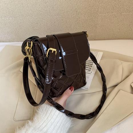 bolso del cubo de la laca del mensajero del hombro de la moda NHJZ312041's discount tags
