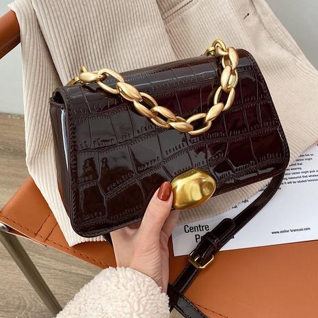 sac porté épaule en cuir verni NHLH312120's discount tags