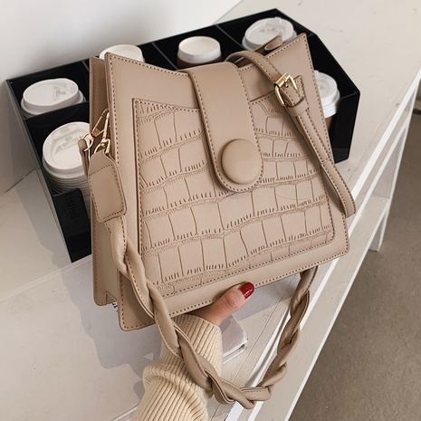 Mode Stein Muster Single Schulter Achselhöhle Tasche NHLH312130's discount tags