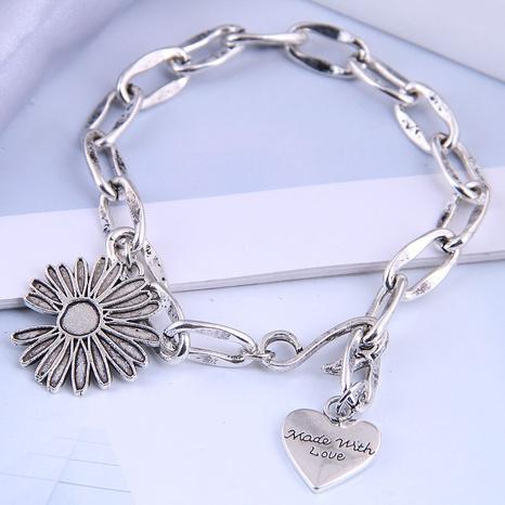 fashion metal simple chrysanthemum heart bracelet NHSC312262's discount tags