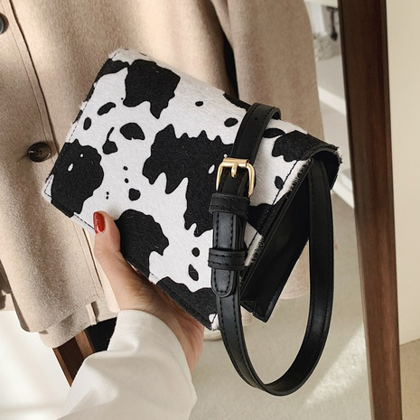 sac à bandoulière à motif de vache NHLH312141's discount tags