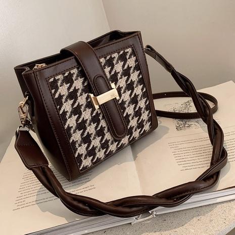 petit sac à carreaux à une épaule NHLH312148's discount tags