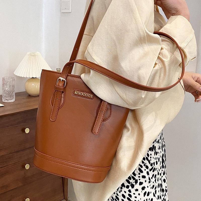 largecapacity fashion bucket bag  NHLH312158