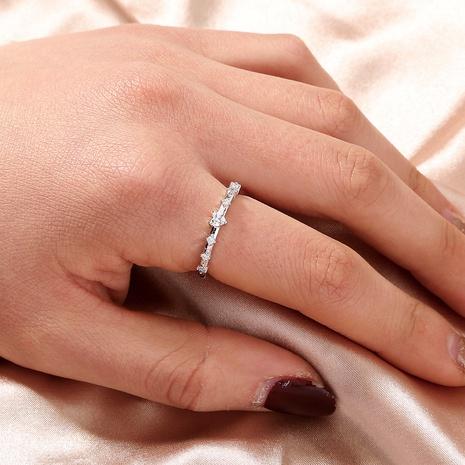 einfacher offener Ring aus Zirkondiamant NHAN312173's discount tags