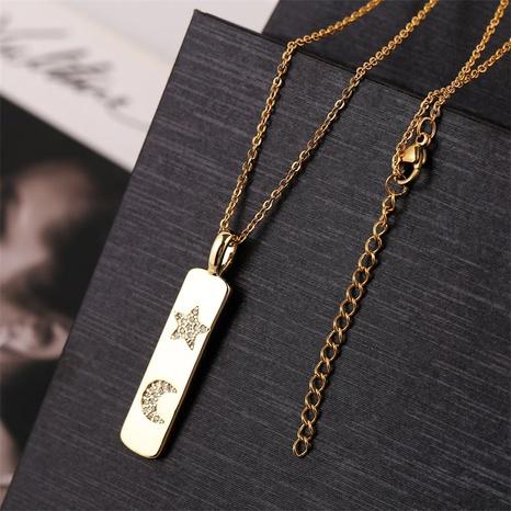 collar estrella luna de circonio con incrustaciones de cobre NHLA312188's discount tags