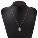 Creative copper inlaid zirconium cross necklace NHLA312189
