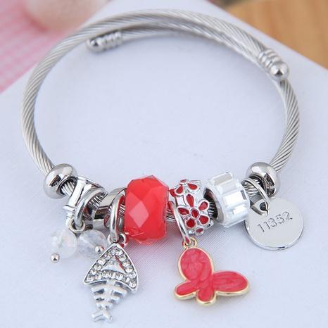fashion diamond fish bone butterfly multi-element bracelet NHSC312263's discount tags