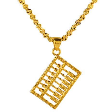 Korean fashion gold abacus necklace NHSC312253's discount tags