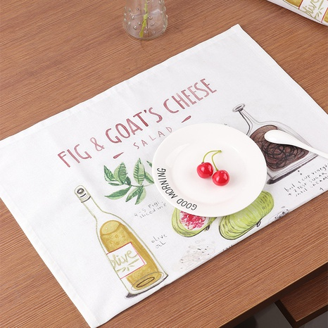 Kreatives Tischset aus Feigenholz aus Baumwolle und Leinen NHNU312254's discount tags