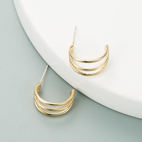 Korean fashion C-shaped metal earrings  NHLN312206's discount tags