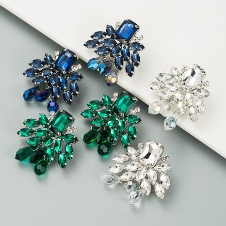 Mode grüne Kristallohrringe NHLN312215's discount tags