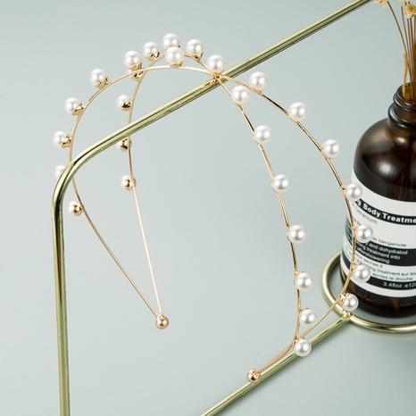 einfaches zweireihiges Perlenstirnband NHLN312216's discount tags