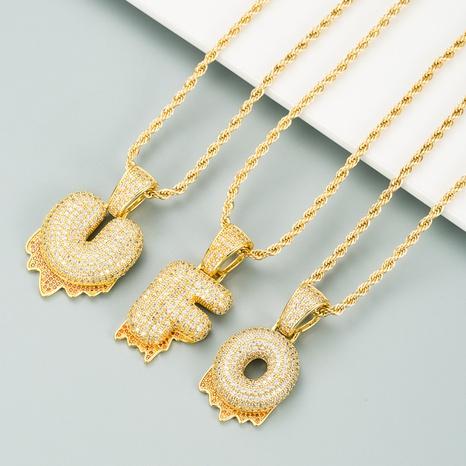 26 Englisch Buchstabe mikro-eingelegte Zirkon Halskette NHLN312219's discount tags