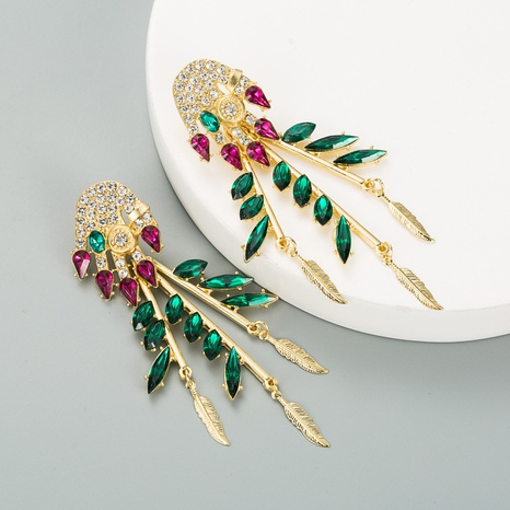fashion alloy inlaid color rhinestones butterfly earrings NHLN312235's discount tags