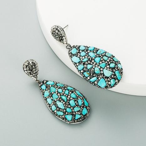 Mode tropfenförmige Naturstein Diamant Retro Ohrringe NHLN312236's discount tags