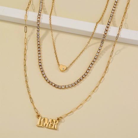 Briefliebhaber Anhänger einfache Mode mehrschichtige Halskette NHAN312291's discount tags