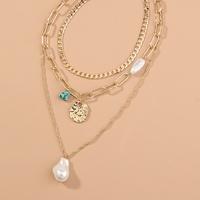 collar multicapa de perlas estilo punk NHAN312292