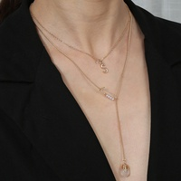 collar de piedra natural transparente de moda NHAN312295