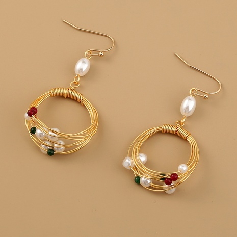 fashion simple retro pearl earrings  NHAN312296's discount tags