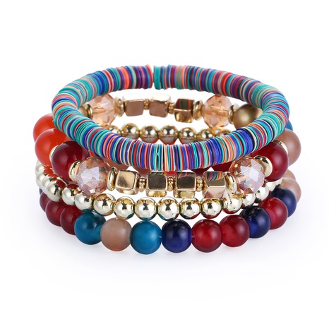 Bohemian multi-layer beaded bracelet  NHBD312308's discount tags